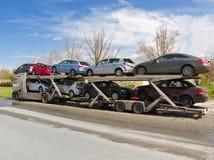 Autotransporter Stockfotos