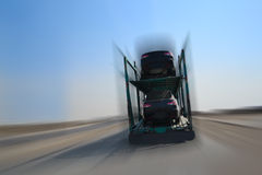 Autotransporter  on  highway Royalty Free Stock Images