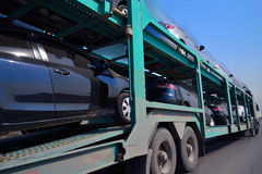Autotransporter Speeding stock photos