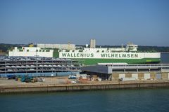 Autotransporter Wallenius Wilhelmsen stockfoto