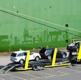 Autotransportwagen stock afbeeldingen