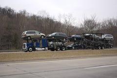 Autotransportwagen Stock Foto
