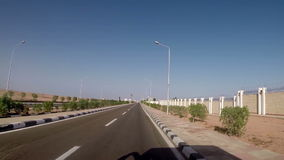 Autotravel in Egypt. View on beautiful landscape stock footage