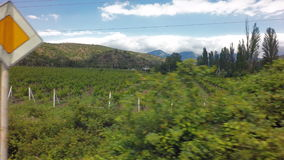 Autotravel Summer south of Crimea. Beautiful mountain landscape with vineyards. stock footage