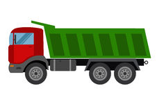 Autotruck  Tipping lorry  Tripper truck vector icon  Tipping lorry. Autotruck vector isolated.Building truck Stock Photos