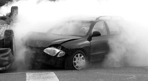 Autounfall. lizenzfreies stockbild
