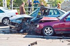 Autounfall Stockfotografie