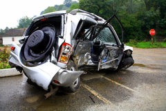 Autounfall stockbild