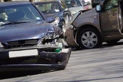 Autounfall Stockfoto