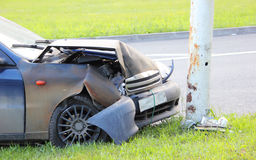 Autounfall auf der Straße Stockbild