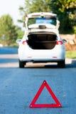 Autounfall auf einer Straße Lizenzfreies Stockfoto