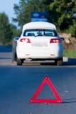 Autounfall auf einer Straße Lizenzfreie Stockfotos