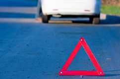 Autounfall auf einer Straße Stockbild