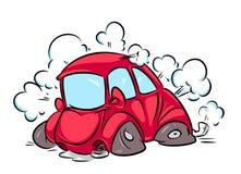 Autounfall-Karikaturillustration Lizenzfreie Stockbilder