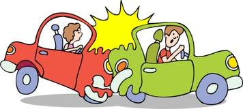 Autounfall - kein Hintergrund Stockfotografie