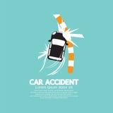 Autounfall mit Fußweg Stockfoto