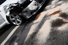Autounfall-Nachmahd Stockfoto