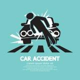 Autounfall riß einen Mann ab Stockbilder