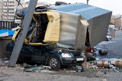 Autounfall-Systemabsturz Stockbild