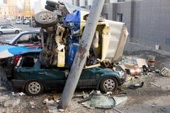 Autounfall-Systemabsturz Stockfotos