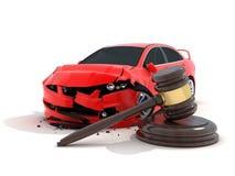 Autounfall und Gesetz Stockfotos