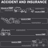 Autounfall und leerer Streifen Lizenzfreies Stockfoto