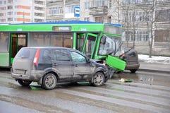 Autounfall-Unfall Stockbild