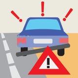 Autounfall-Vektor-Illustration Lizenzfreies Stockfoto