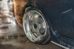 Autounfall vom Autounfall auf der Straße Stockfotografie