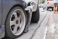 Autounfall vom Autounfall auf der Straße Lizenzfreie Stockfotografie