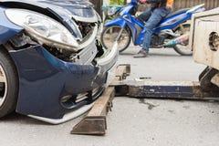 Autounfall vom Autounfall auf der Straße Lizenzfreies Stockfoto