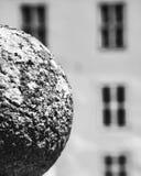 Autour de et place en noir et blanc Photographie stock