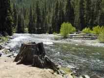 Autour de la courbure de rivière Photos stock