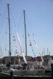 Autour du chemin de yacht du monde Images stock