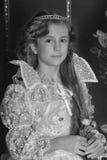 1887 autour du cru pris tiré par verticale de fille était jeune Image libre de droits