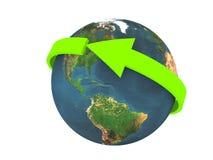 Autour du globe Photos libres de droits