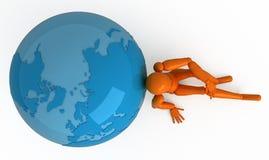 Autour du monde illustration stock