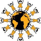 Autour du monde illustration de vecteur