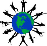 Autour du monde Image libre de droits