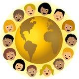 autour du monde d'enfants Images libres de droits