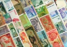 autour du monde de papier de devises de billets de banque Images libres de droits