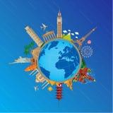 Autour du voyage et du tourisme du monde Photographie stock libre de droits