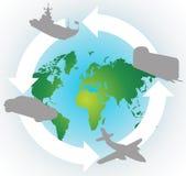 Autour du world.cdr Photographie stock libre de droits