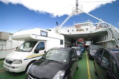 Autoveerboot stock fotografie