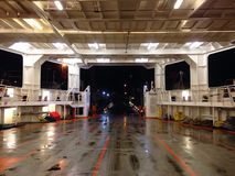 Autoveerbootbenedendek Stock Fotografie