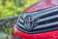 Autoveicolo rosso di Toyota Corolla Fotografia Stock