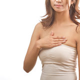 Autoverifica del cancro della mammella Immagini Stock Libere da Diritti