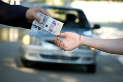 Autoverkauf lizenzfreies stockfoto