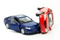Autovorfall Stockfoto
