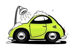 Autowäsche lizenzfreie abbildung